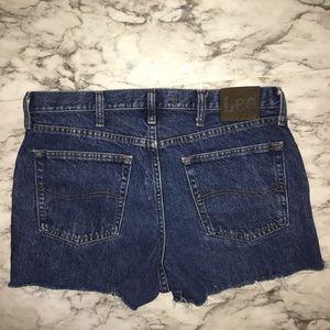 Vintage Lee cut off Jean Shorts 34